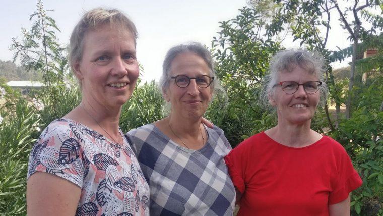Bezoek van 2 vriendinnen uit Driesum!